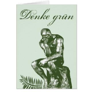 Denke grün - Mit Auguste Rodins Denker Card