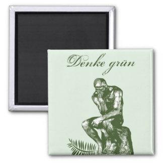 Denke grün - Mit Auguste Rodins Denker Magnet