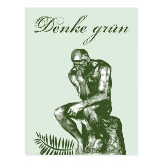 Denke grün - Mit Auguste Rodins Denker Postcard