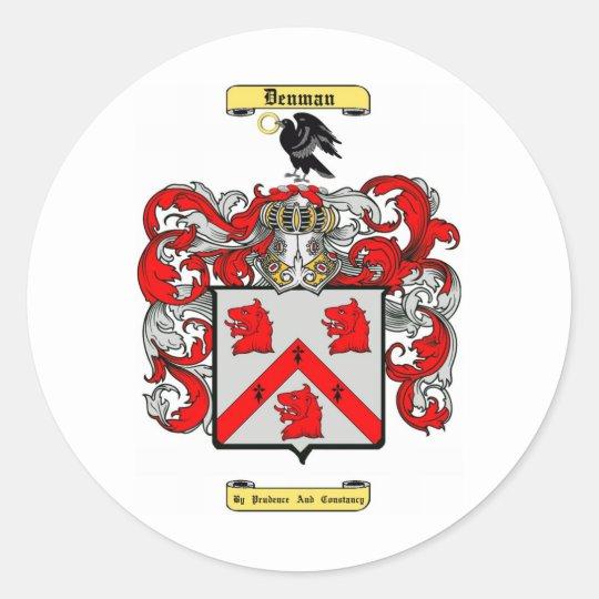 denman classic round sticker