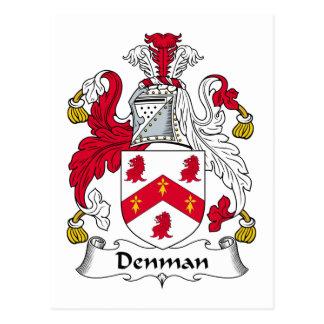 Denman Family Crest Post Cards