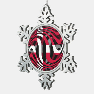 Denmark 1 snowflake pewter christmas ornament