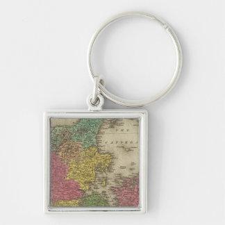 Denmark 9 keychain