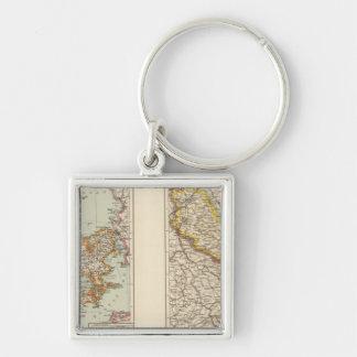 Denmark, Alsace Lorraine, Palatinate Keychain