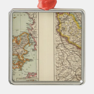 Denmark, Alsace Lorraine, Palatinate Metal Ornament