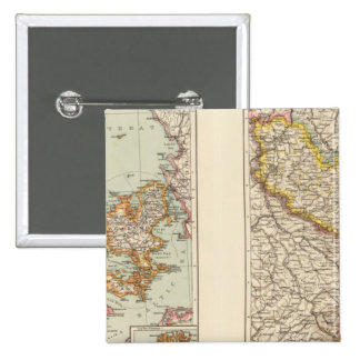 Denmark, Alsace Lorraine, Palatinate Pinback Button