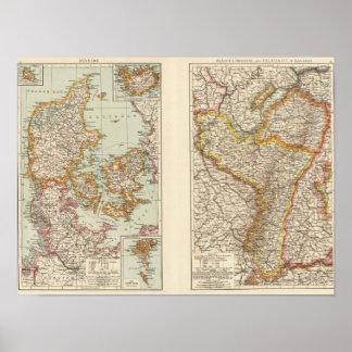 Denmark, Alsace Lorraine, Palatinate Poster