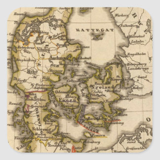Denmark and Iceland 2 Square Sticker