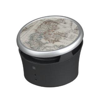 Denmark Atlas Map with 5 inset maps Bluetooth Speaker