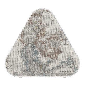Denmark Atlas Map with 5 inset maps Speaker