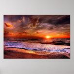 Denmark Beach Sunset Poster