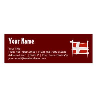 Denmark Brush Flag Business Card Templates
