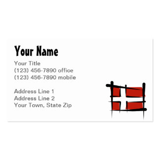 Denmark Brush Flag Business Card Template