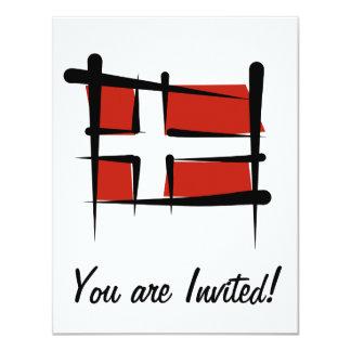 Denmark Brush Flag Card
