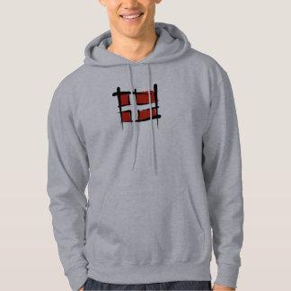 Denmark Brush Flag Hoodie