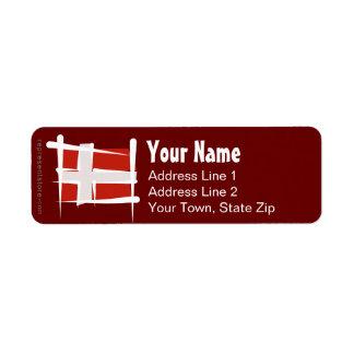 Denmark Brush Flag Label