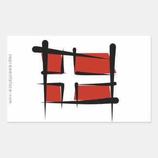 Denmark Brush Flag Sticker