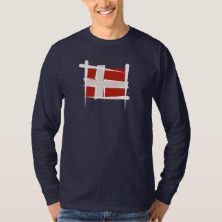 Denmark Brush Flag T Shirt