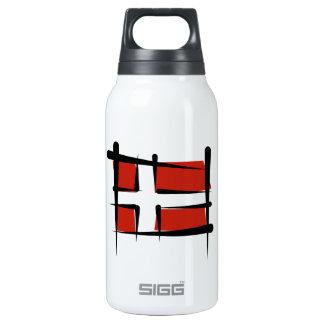 Denmark Brush Flag Thermos Water Bottle