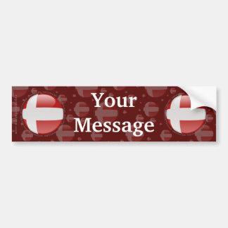 Denmark Bubble Flag Car Bumper Sticker