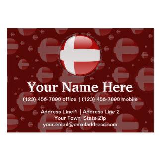 Denmark Bubble Flag Business Card Templates