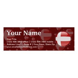 Denmark Bubble Flag Business Card Template