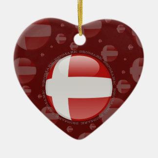 Denmark Bubble Flag Ceramic Ornament