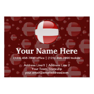 Denmark Bubble Flag Large Business Cards (Pack Of 100)