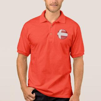 Denmark Bubble Flag Polo Shirt