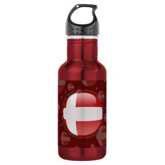 Denmark Bubble Flag Water Bottle