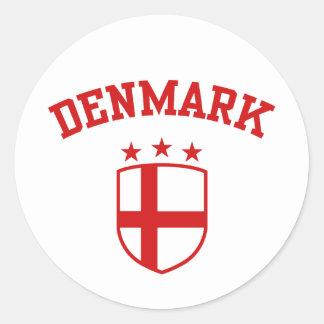 Denmark Classic Round Sticker