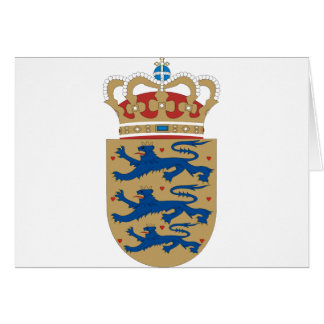 Denmark coat of arms card