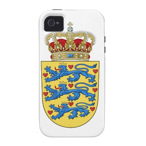 Denmark Coat of Arms Case-Mate iPhone 4 Cover