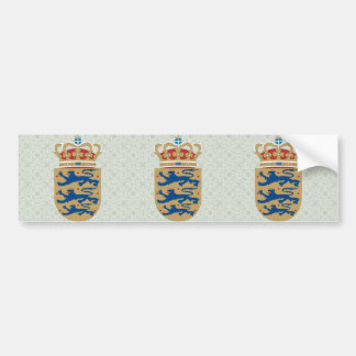 Denmark Coat of Arms detail Bumper Stickers