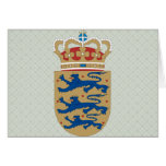 Denmark Coat of Arms detail Greeting Cards