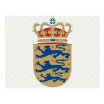 Denmark Coat of Arms detail Postcard