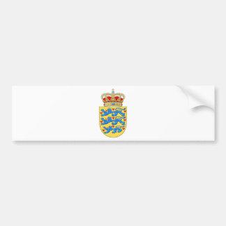 Denmark Coat of arms DK Bumper Sticker