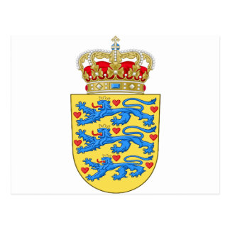 Denmark Coat of arms DK Postcard