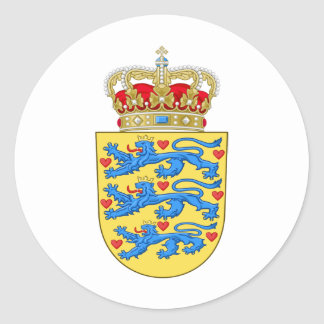 Denmark Coat of arms DK Stickers