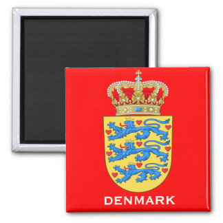 Denmark Coat of Arms Gift Magnet