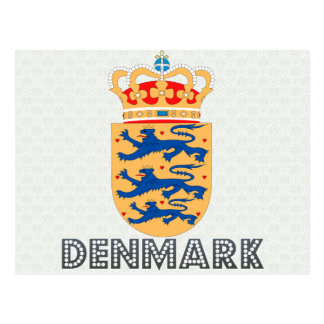 Denmark Coat of Arms Postcard