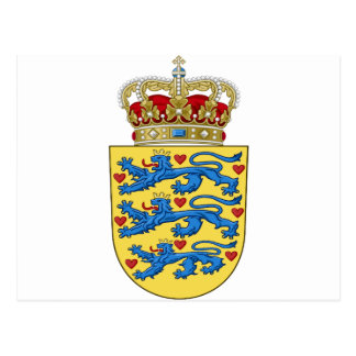 Denmark Coat of Arms Post Card