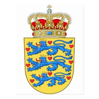 denmark coat of arms postcard