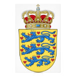 Denmark Coat of Arms Stationery