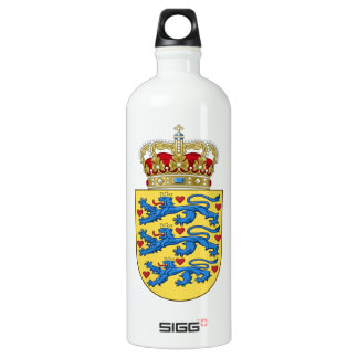 Denmark Coat of Arms Water Bottle