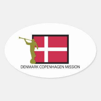 DENMARK COPENHAGEN MISSION LDS CTR OVAL STICKER