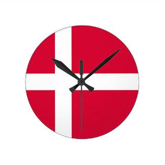 denmark country flag clock