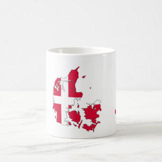 denmark country flag map shape danish coffee mug