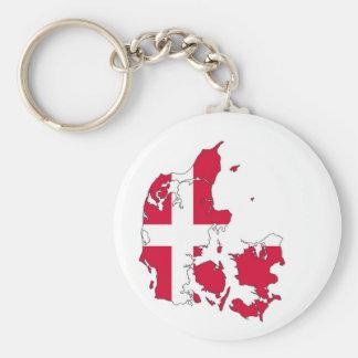 denmark country flag map shape danish keychain