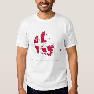 denmark country flag map shape danish t shirt